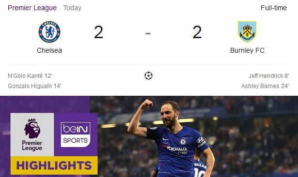 Chelsea Vs Burnley FC